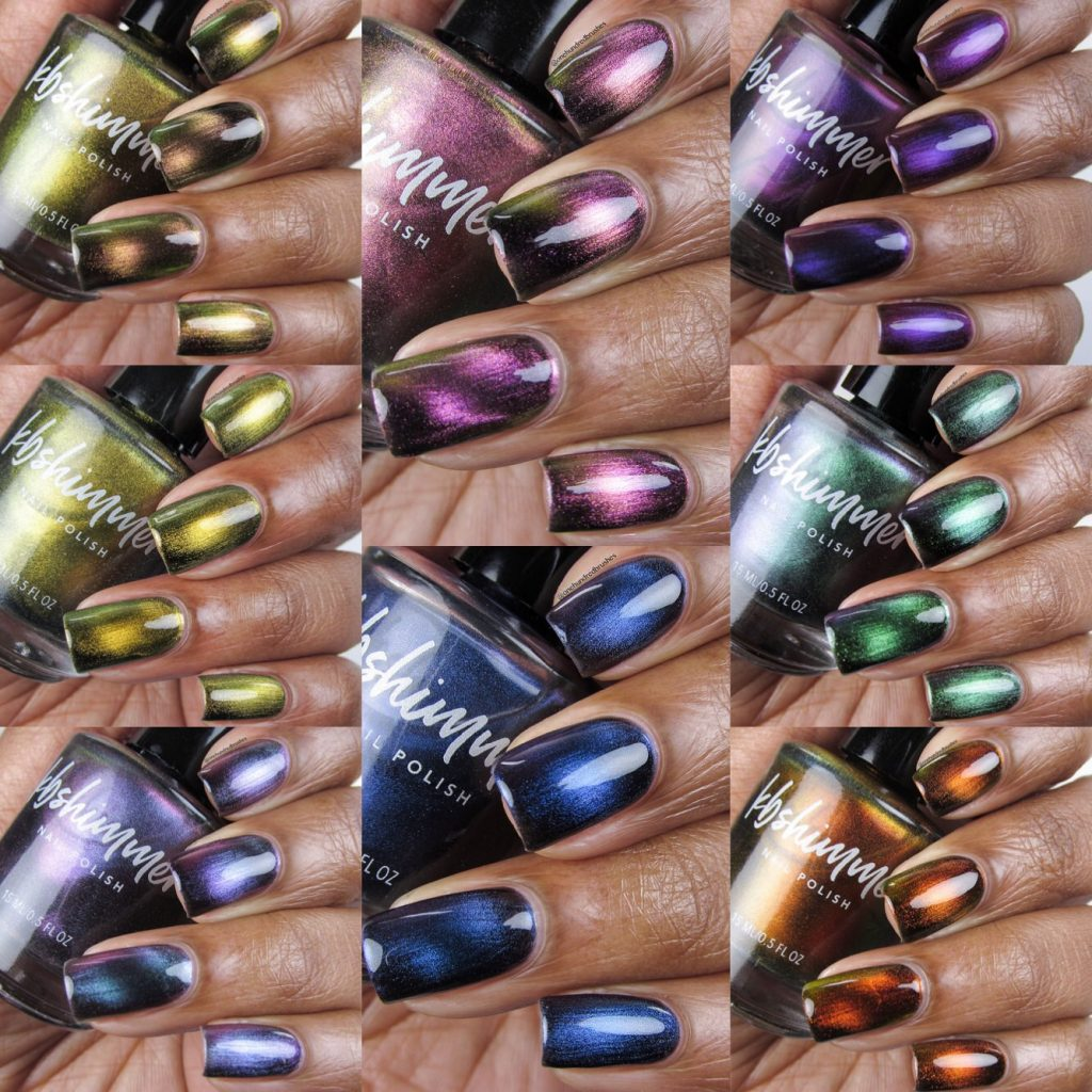 Launch Party Collection, K B Shimmer, Magnetic Polishes