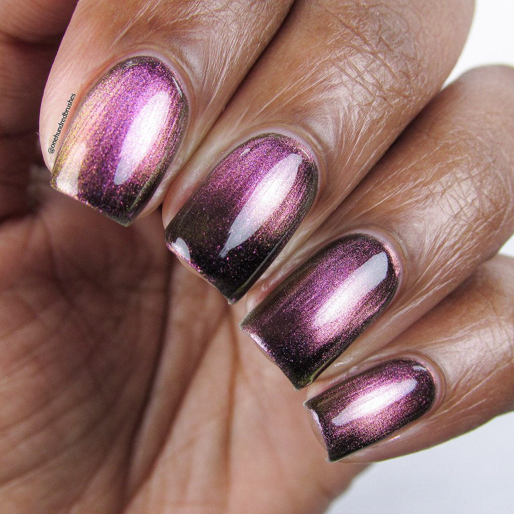 Just A Phase, Launch Party Collection, KB Shimmer, Magnetic polish, closeup, One Hundred Brushes