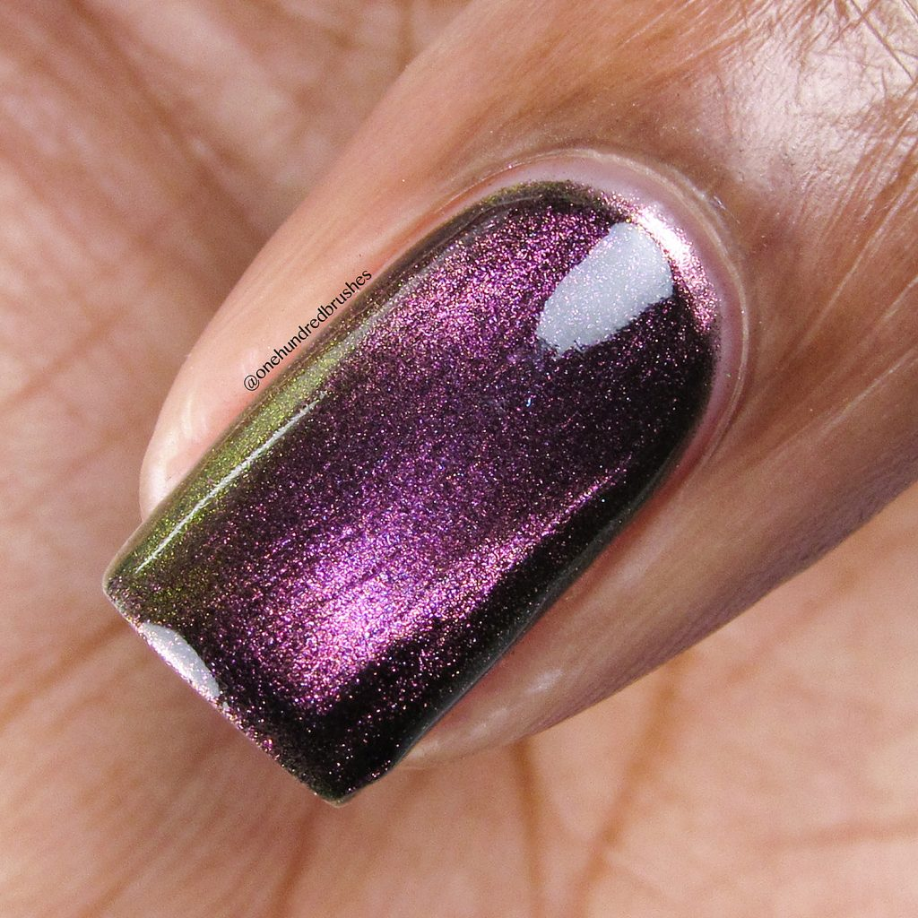 Just A Phase, Launch Party Collection, KB Shimmer, Magnetic polish, macro, One Hundred Brushes