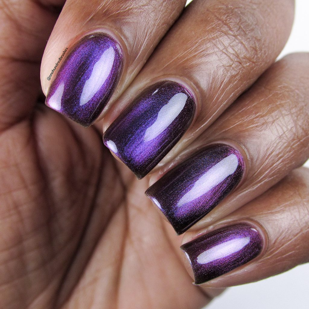 Orbits and Pieces, closeup, KB Shimmer, magnetic polish