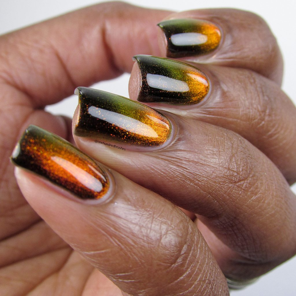 Solar Flair, angle, magnetic polish, K B Shimmer, Launch Party Collection