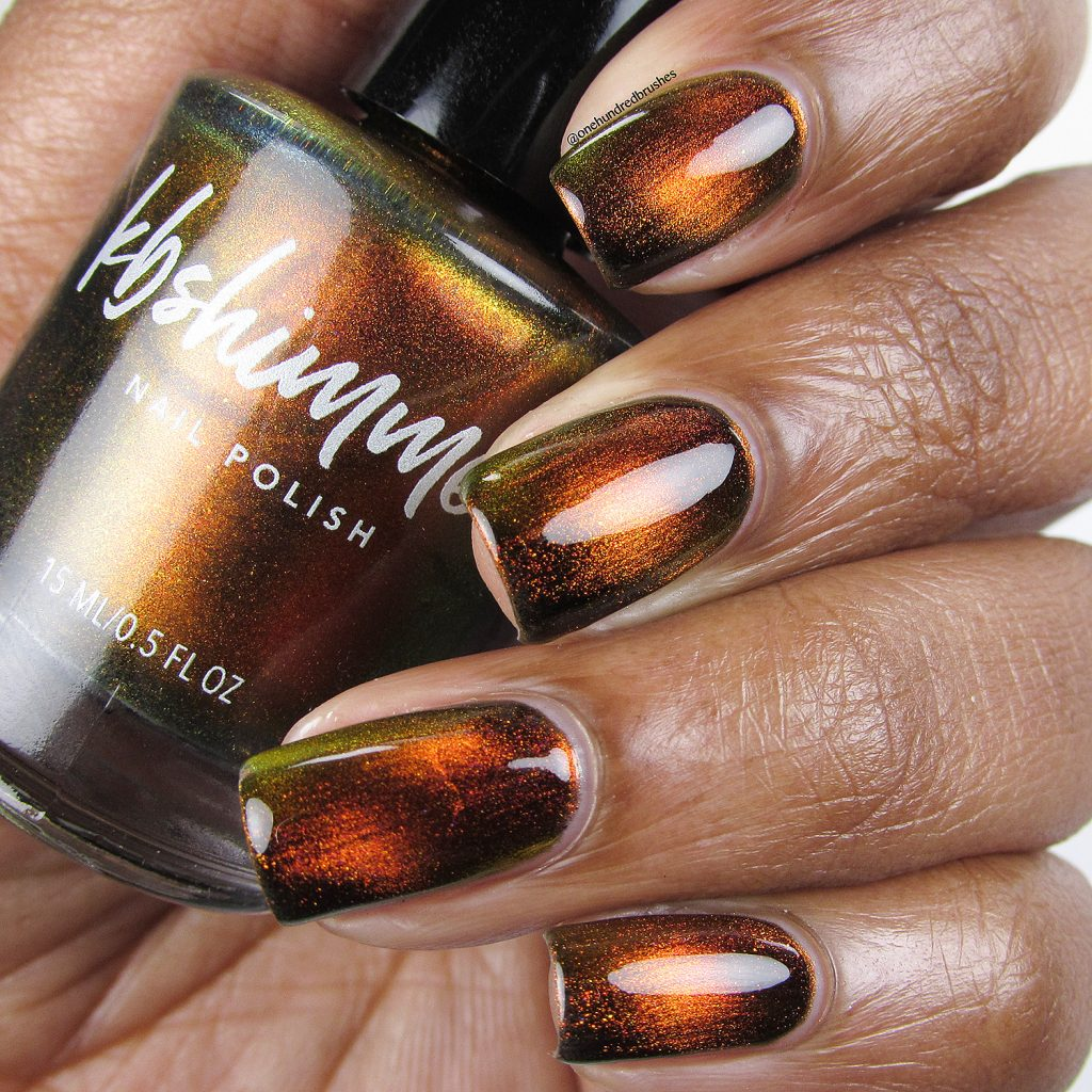 Solar Flair, bottle shot, magnetic polish, K B Shimmer, Launch Party Collection