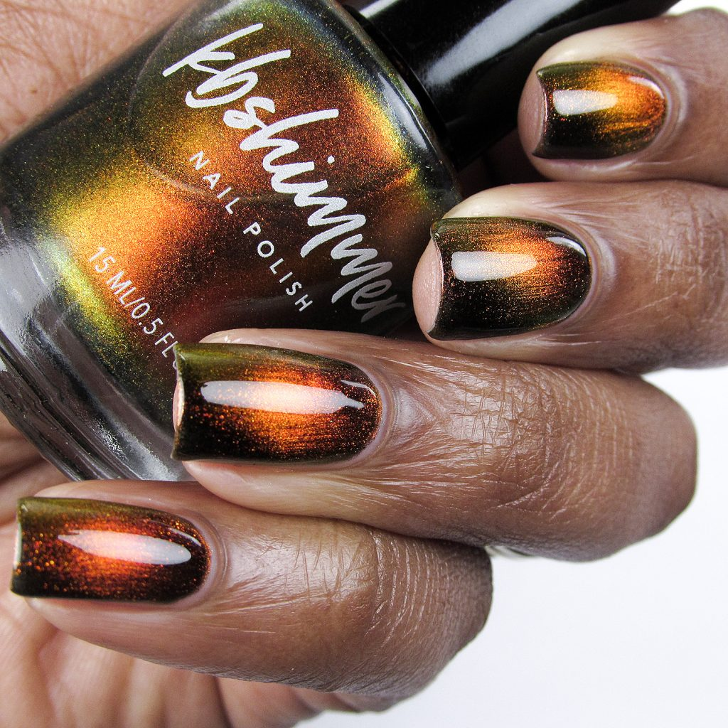 Solar Flair, Magnetic Polish, bottle shot, KB Shimmer, Launch Party Collection