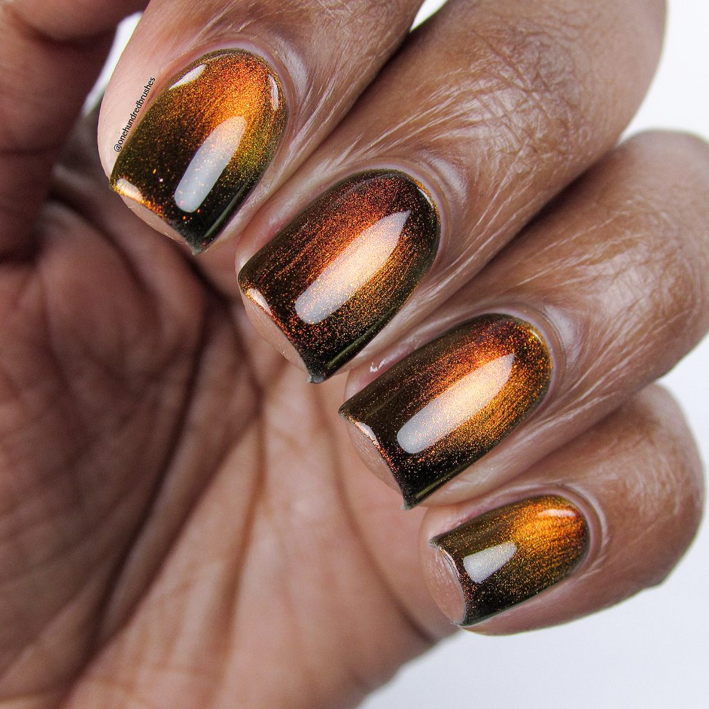 Solar Flair, closeup, magnetic polish, K B Shimmer, Launch Party Collection