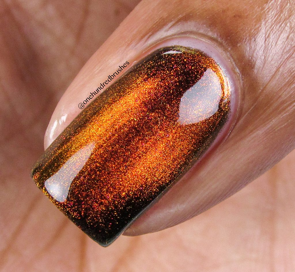 Solar Flair, macro shot, magnetic polish, K B Shimmer, Launch Party Collection