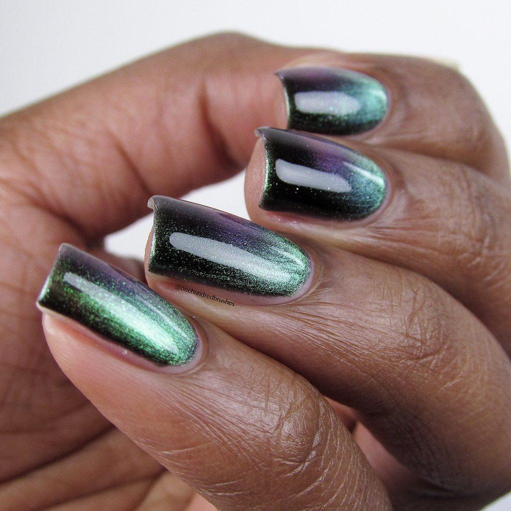 You Rocket My World, angle, KB Shimmer, magnetic polish